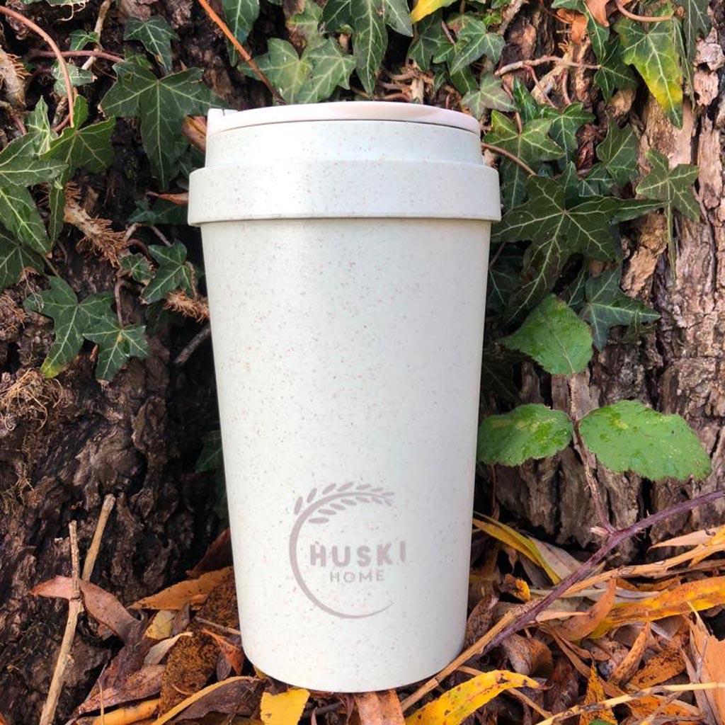 Ποτήρι καφέ από φλοιό ρυζιού γαλαζοπράσινη