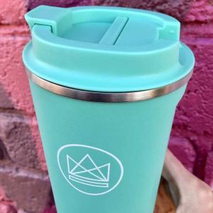 Οικολογικλο ποτήρι καφέ Neon Kactus Make Waves