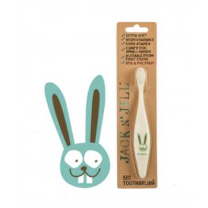 Οικολογική Παιδική Οδοντόβουρτσα Jack N'Jill Βunny Extra Soft - από άμυλο καλαμποκιού