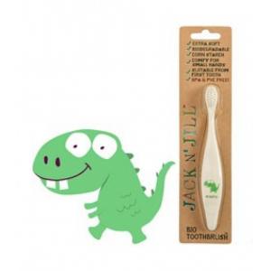 Βιοδιασπώμενη Παιδική Οδοντόβουρτσα από Άμυλο Καλαμποκιού Jack N'Jill Dino Extra Soft