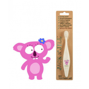 Βιοδιασπώμενη Παιδική Οδοντόβουρτσα από άμυλο Καλαμποκιού Jack N'Jill Koala Extra Soft