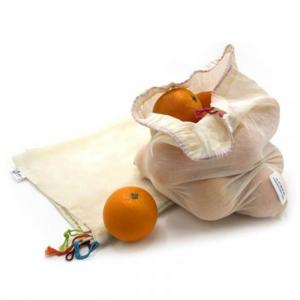 Σακούλες  Φρούτων Λαχανικών Ah-Table Σετ 5 τεμ (L) από Βιολογικό Βαμβάκι Πιστοποιημένες με GOTS ©