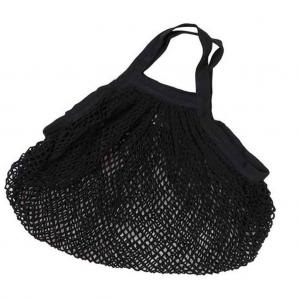 Τσάντα Δίχτυ Μαύρη με Κοντή Λαβή Ecodis από Οργανικό Βαμβάκι