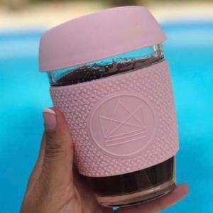Οικολογική κούπα καφέ 340 ml  Neon Kactus Pink Flamingo