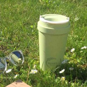 οικολογικές κούπες καφέ από φλοιό ρυζιού