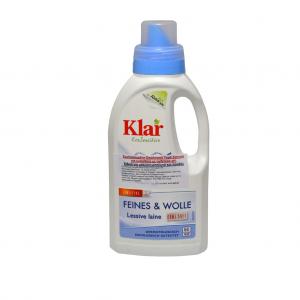Συμπυκνωμένο οικολογικό υγρό απορρυπαντικό ρούχων Klar 500ml - για ευαίσθητα μάλλινα και μεταξωτά (50 πλυσεις)