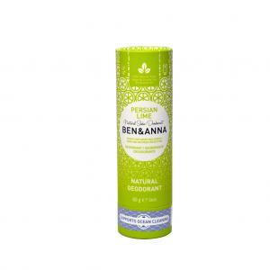 Φυσικό αποσμητικό Ben & Anna 60gr Persian Lime χωρίς αλουμίνιο - zero waste, 100% vegan & cruelty free