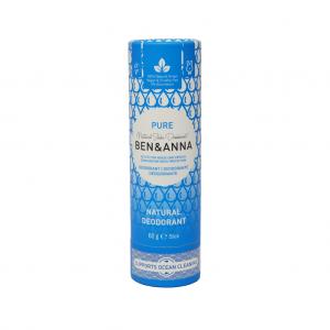 Φυσικό αποσμητικό Ben & Anna 60gr Pure χωρίς αλουμίνιο - zero waste, 100% vegan & cruelty free