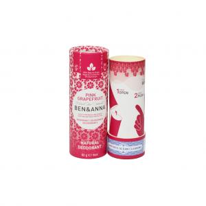 Φυσικό αποσμητικό Ben & Anna 60gr Pink Grapefruit χωρίς αλουμίνιο - zero waste, 100% vegan & cruelty free