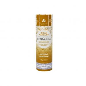 Φυσικό αποσμητικό Ben & Anna 60gr Indian Mandarine χωρίς αλουμίνιο - zero waste, 100% vegan & cruelty free
