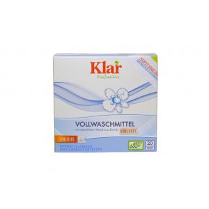 Οικολογική Vegan σκόνη πλυντηρίου ρούχων Klar 1,1kg με σαπούνι καρύδας - άοσμο - vegan - 20 πλυσεις