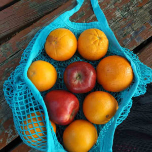 βαμβακερή τσάντα δίχτυ